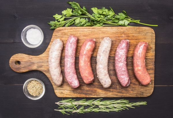 sausages-burgers